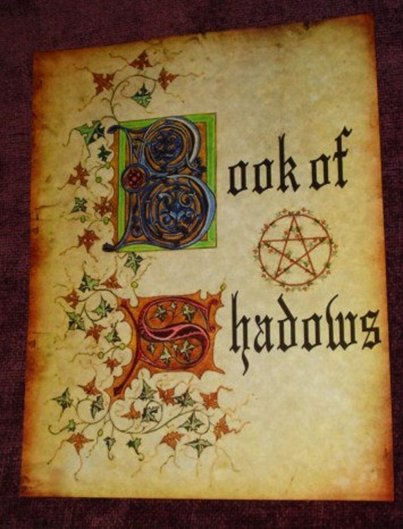 Book Of Shadows Cover Ideas : Book of shadows title page loose pages