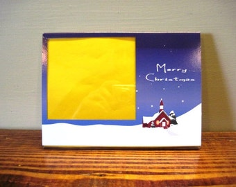 Christmas Picture Frame - Schoolhouse