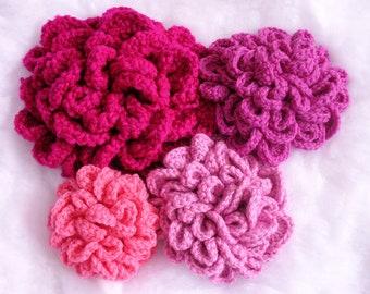 Fluffy Flower Crochet Pattern