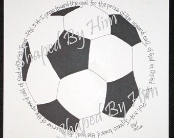Soccer Ball - Phil. 3:14 - 8x10