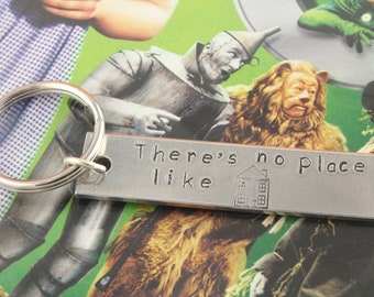 SALE - There's No Place Like Home Keychain - Keyring Key Chain Key Ring