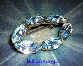 Vintage Light Sapphire Brooch