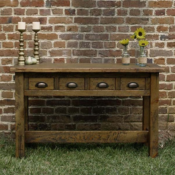 Reclaimed Cypress Console Table - reclaimed wood entry table, entry table