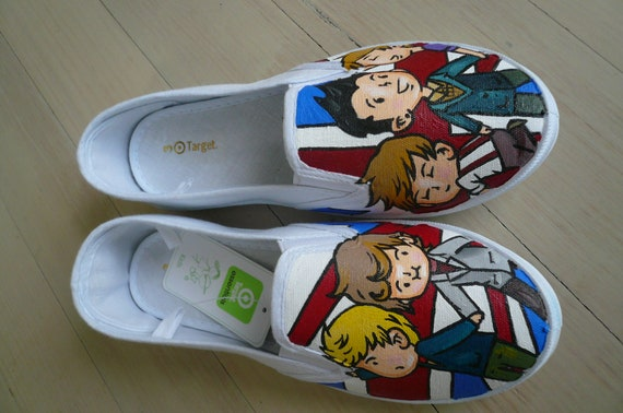painted one direction canvas shoes