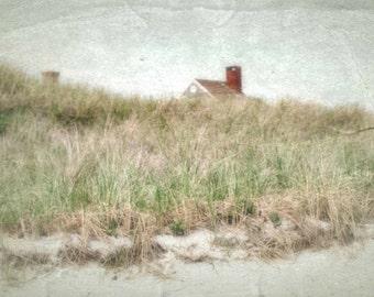 Photo Print - Sand Dune, Beach Grass, Summer Cottage, Cape Cod