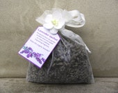 Lavender sachet in organza bag, hand-made, hand-decorated (large size) - gift or present