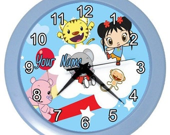 Personalized Ni Hao Kai Lan Your Name Room Wall Clock