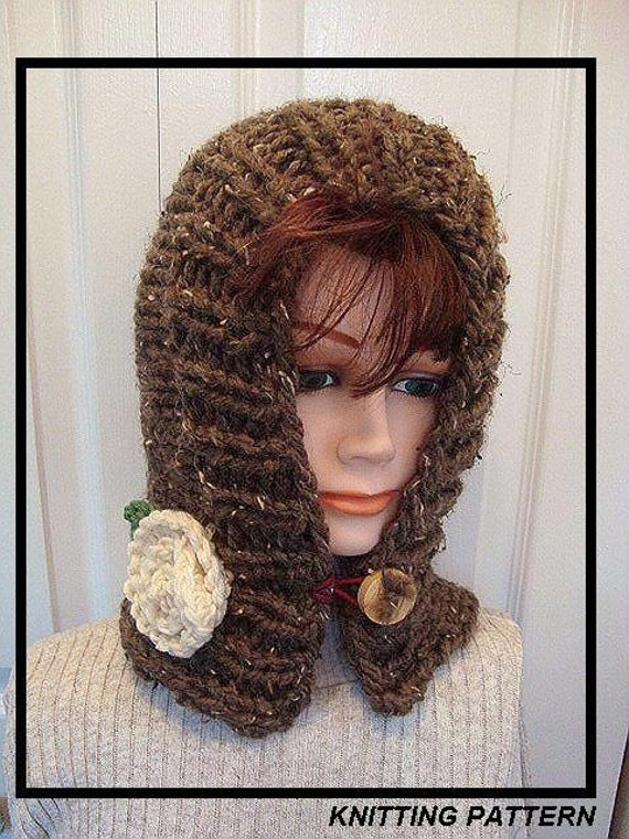 Items similar to Hat Knitting pattern, Pixie hat - hand knit hat - women...