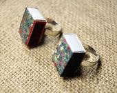 Handmade matchbox adjustable ring.