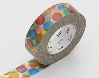 Washi Tape, MT Tape, Multi-Color Spot Yellow, Dots