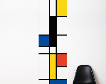 Pop Mondrian - Wallpaper - Color Print