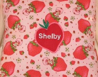 Strawberry Shortcake Pink Personalized Pillow