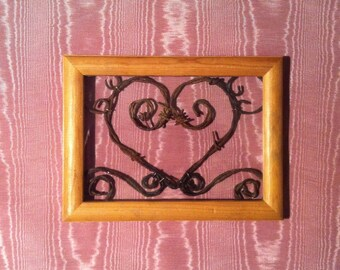 My love, Picture Frame,Frames,Hand Crafted,Art,Home Decor,Wall Hanging,Heart,Swirl Heart,Rustic Design,Antique Furniture,Old