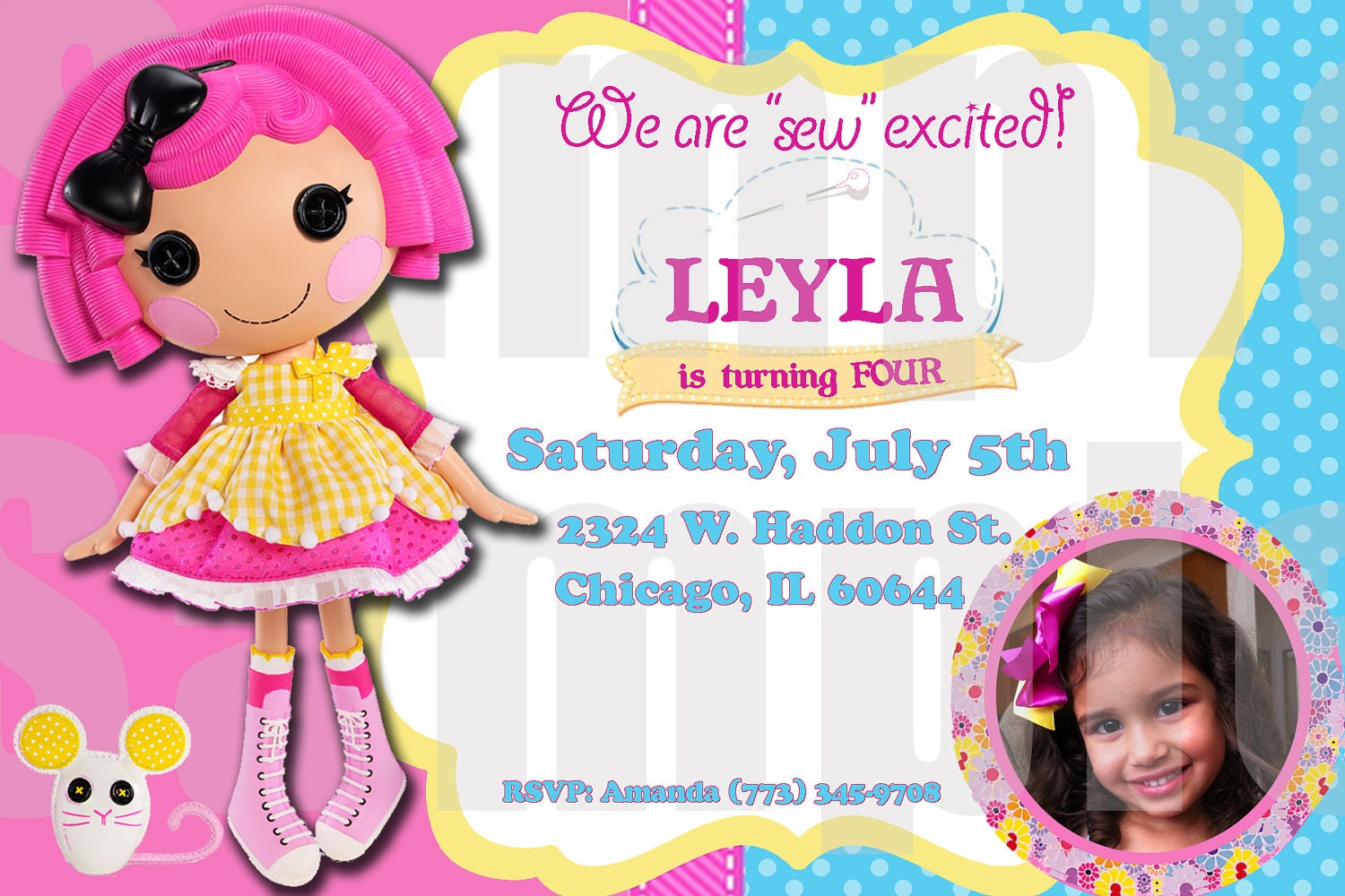 Lalaloopsy Invitations as amazing invitation template