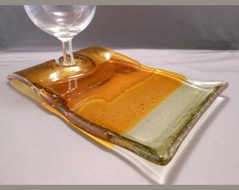 Gradient Yellows - Fused Glass Wine & Dine Plate