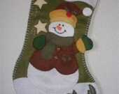 Snowman christmas stocking holder Southern