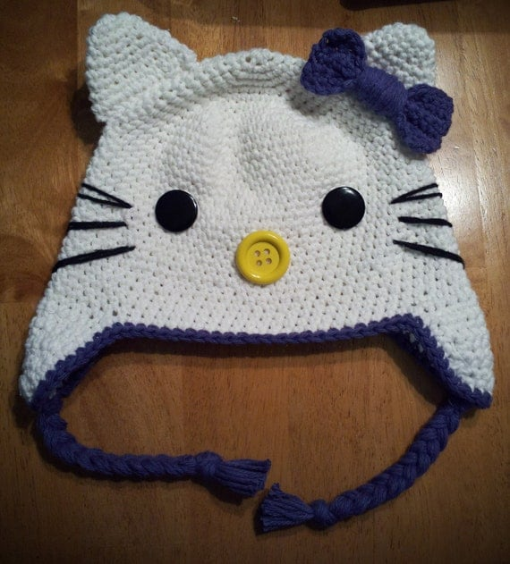 Kitty Kitty Earflap Hat CHILD SIZES