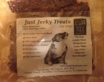 Homemade Beef Jerky Dog Treats, 8oz - All Natural, No Fillers, No Preservatives
