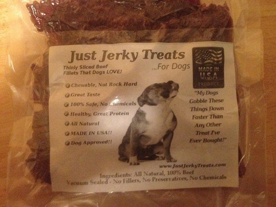 Homemade Beef Jerky Dog Treats 8oz All Natural No Fillers