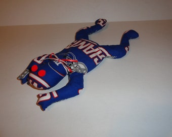 Hand Made New York Giants NFL Football Bean Bag Frog