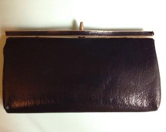 1980s Classic Navy Blue Clutch