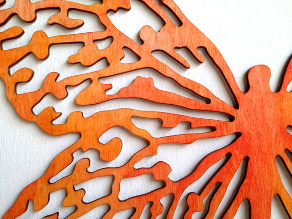 Items Similar To Butterfly Wall Art Hand Painted Laser
