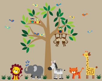 Tree WALL DECAL Jungle Wall Decal - C101
