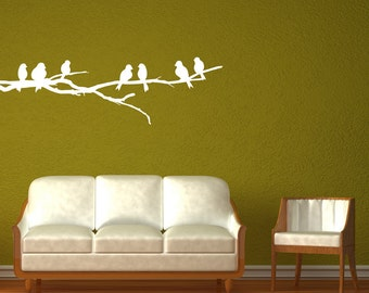 Seven Birds on a Branch- Wall Decal