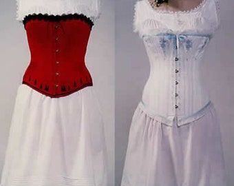 LM100 - 1837- 1899 Ladies' Victorian Steampunk Corsets and Underwear Pattern by Laughing Moon