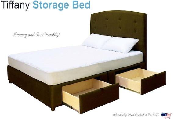king bed frames on sale storage platform bed tiffany. Black Bedroom Furniture Sets. Home Design Ideas