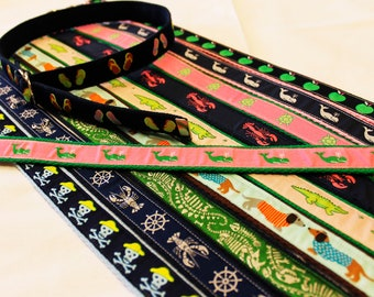 Adjustable Preppy Belts for Girls and Boys, D-Ring with Velcro Option