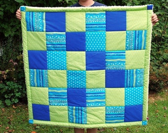 Quilt green blue turquoise