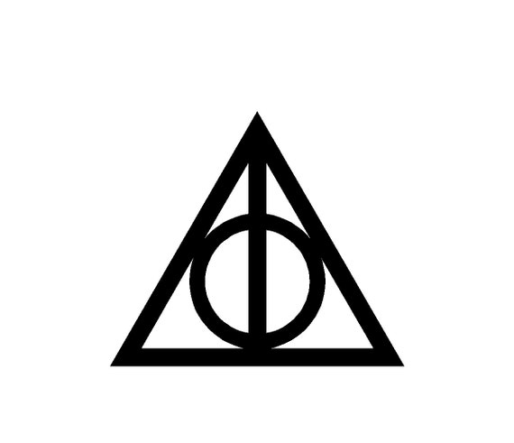 Items similar to Deathly Hallows Symbol 22x22 - Gamer ...