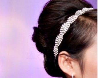 Twist Rhinestone Headband Bridal / Wedding / Prom Head piece