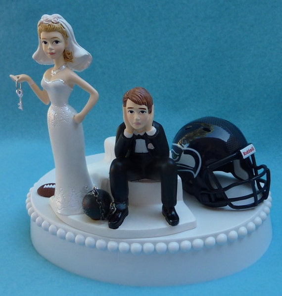 key west wedding cake toppers wedding cake topper seattle seahawks football themed by wedset 16637