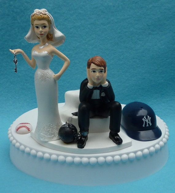 wedding cake toppers baseball theme wedding cake topper new york yankees ny baseball themed 26390