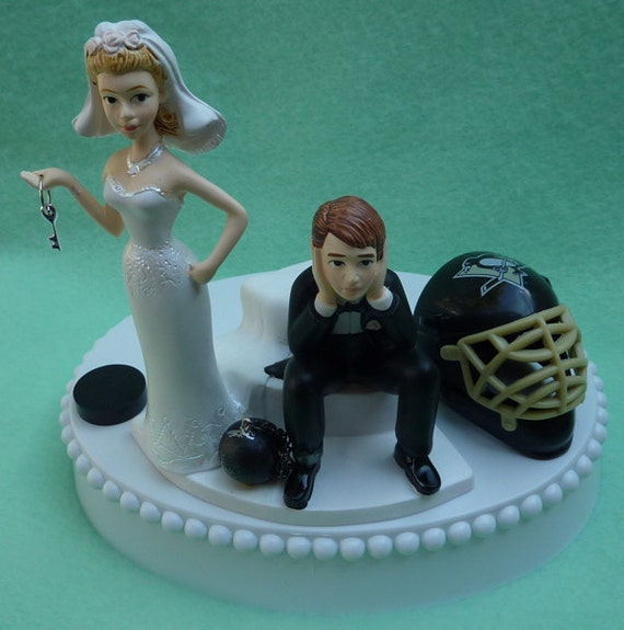 wedding cake toppers pittsburgh pa wedding cake topper pittsburgh penguins hockey themed and 26582
