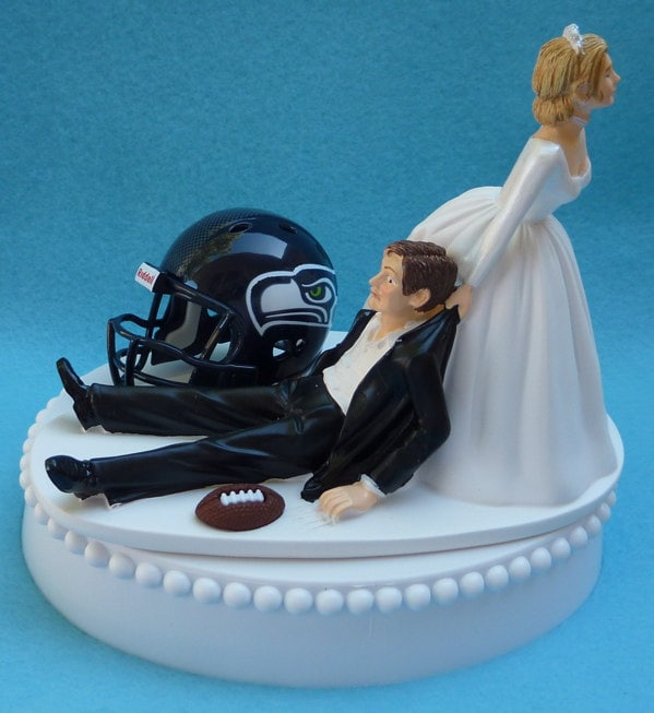 wedding cake seattle wedding cake topper seattle seahawks football themed w garter 24246