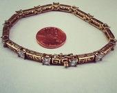 Sterling Silver Cubic Zirconia (CZ) Greek Key Bracelet