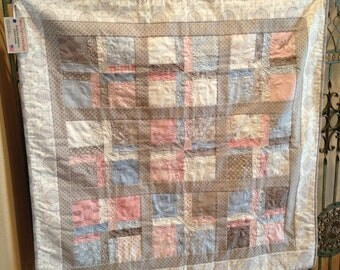Pink and Blue Puttin On The Ritz Baby/Toddler/Children's Quilt