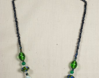 Water Lilly Beaded Necklace