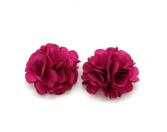 Floral Shoe Clips ( Fuschia)