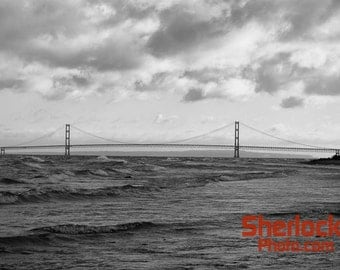 Mackinac Bridge over Lake Michigan - Image 01790