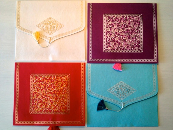 Wedding Gift Envelope India : CD Envelope, CD favor, Cd Cover with tassel, Indian wedding envelope ...