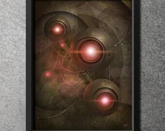 """Original Giclee Art Print 'Eyes In The Dark' (Alternate color scheme) - 18"""" x 24"""""""