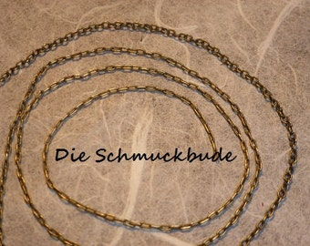 D-02501  2m Brass chain antique Bronze 2x1,5mm nickelfree