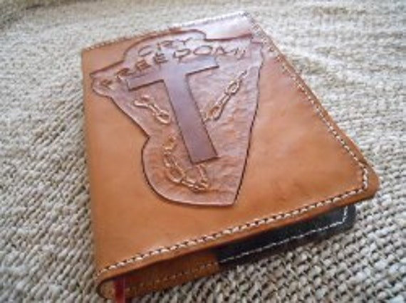 Handmade Leather Book Cover : Handmade leather bible or book cover