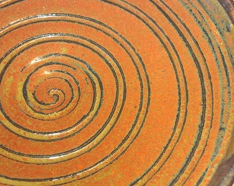 Red Spiral Bowl