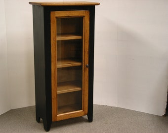 Bathroom Cabinet / Small Display Cabinet / Jelly Cabinet / China Cabinet /  Pine Jam CupboardsKitchen
