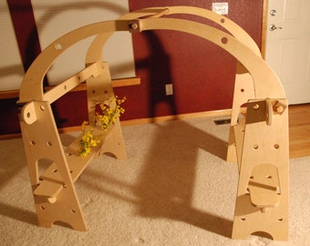 Waldorf Playstands- Build and change using wooden bolts and nuts. Stores under the bed when not in use.